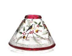 Yankee Candle Jar Shade AURORA CRACKLE Medium Large Jar Topper Purple Blue Space