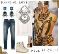 """Dannijo Love"" by cheetahisnb ❤ liked on Polyvore"