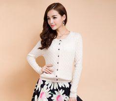 Women's Knitted Twist Striped Cashmere Cardigans Female Winter O-Neck Full Sleeve Sweater 2016 Autumn Fashion Warm Style Jacket