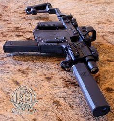 Kriss Vector Super V 45 auto with Osprey silencer Airsoft, Weapons Guns, Guns And Ammo, Revolver, Osprey Suppressor, 22lr, Kriss Vector, Submachine Gun, Urban Survival