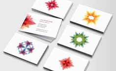 Kaleidoscope Carte De Visite Fleur Logo Lotus Conception L