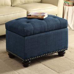 Amazon.com: Convenience Concepts Designs-4-Comfort 5th Avenue Storage Ottoman, Blue: Kitchen & Dining