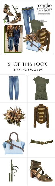 """""""Untitled #150"""" by erihiro ❤ liked on Polyvore featuring Frame, Bailey 44, Nearly Natural, Pinky Laing, Fendi, Paul & Joe Sister, Stila and Material Girl"""