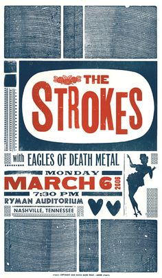 Hey - I saw this show :)  The Strokes with Eagles of Death Metal...got a T-Shirt, yesssss.