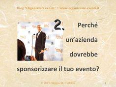 Sponsorizzazione strategica 2, by Filippo Maria Cailotto via Slideshare