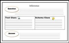 inference graphic organizer--this site has a great selection of graphic organizers