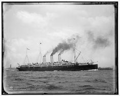 The German ocean liner SS Augusta Victoria (1888) taken around 1890
