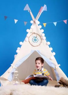 This wigwam is proclaimed to be an actual boys territory  for new discoverings and fun. Your child is ready for adventures every day, if he knows he have a place to lay down his arms.