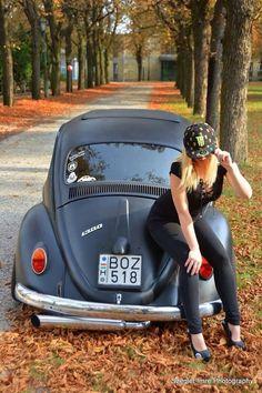 VW Fusca Beetle and Girl :) - Luiz Antonio Costa - Google+