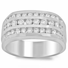 Artistry Collections Men's 14k White Gold 1 1/2ct TDW Diamond Ring (F-G, SI1-SI2) (Size 12)