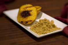 Grilled peaches and brown sugar