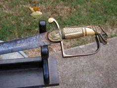 Fantastic U S Large Eagle Head Mounted Infantry Officer Sword |