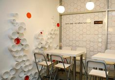 "wall ""accessory"" made from cardboard tubes  [N] Lasser Design & Interior Architecture"
