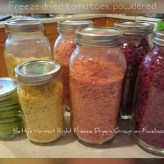 Betty's Harvest Right Freeze Dryers Group has members. A group dedicated to helping others have a positive freeze drying experience at home. Harvest Right Freeze Dryer, Freeze Drying Food, Dryers, Dried Tomatoes, Group Photos, Emergency Preparedness, Food Storage, Preserves, Mason Jars