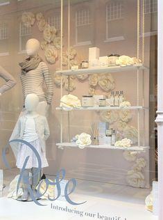 These beautiful paper roses were made up for The White Company's window and…