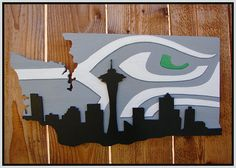 Not your average, run-of-the-mill Seahawks decor. This sophisticated, high-quality fan art is for the most die-hard Seahawks fan! =)    This cool