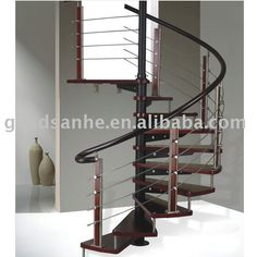 Indoor Spiral Wood Stair, Timber Staircase, View Staircase, sanhe Product Details from Sanhe Titanium Alloy Factory on Alibaba.com Timber Staircase, Wood Stairs, Spiral Staircases, Stair Kits, Galvanized Steel, Shoe Rack, Indoor, Interior Design, Architecture