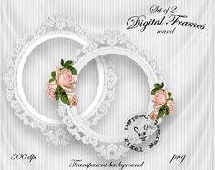 ORNATE FRAME ROUND White for Photographers Web Blog by pixelmarket, €4.50