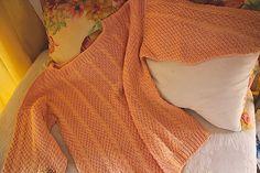 salmone sweater cotone L New handknitted von treasuresmakeshappy