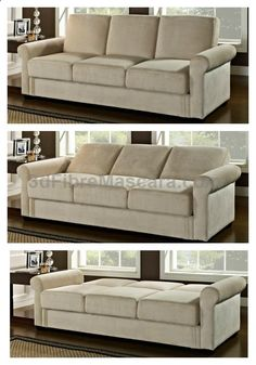 Beautiful and made to last, the Serta Dream Thomas Convertible Sofa features three cushions, a soft upholstery in an airy ash-brown, and roll-top arms. But this couch is no slouch- it provides you with hidden storage options and converts into a bed in just seconds. Shop at hayneedle.com and receive free shipping!