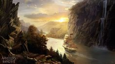 Assassin's Creed Rogue Concept Art - The RIver Valley