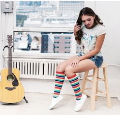 Rainbow knee highs for spring and summer