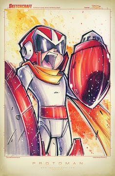Protoman Suave by RobDuenas.deviantart.com on @deviantART