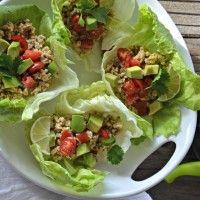 Cilantro-Lime Turkey Taco Lettuce Wraps