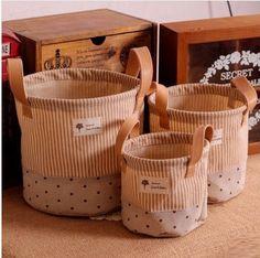 Encontre mais Bolsas de armazenamento Informações sobre Nova chegada 3 pçs/lote roupa de Rural e de Design de armazenamento caixa de cesta de armazenamento de venda quente! S1017, de alta qualidade espelho de bolsa, saco China Fornecedores, Barato trole da cesta de Viviwood Art & Gift em Aliexpress.com