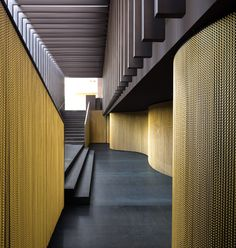 Arc of the World: archilovers: .@kriskadecor golden #curtains at...