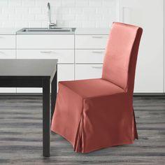 IKEA Henriksdal Dining Chair Cover, Blush Pink Velvet   affordable, designer, custom, handmade, trendy, fashionable, locally made, high quality Ikea Dining Chair, Dining Chair Covers, Pink Velvet, Slipcovers, Blush Pink, Luxury, Handmade, Design, Style