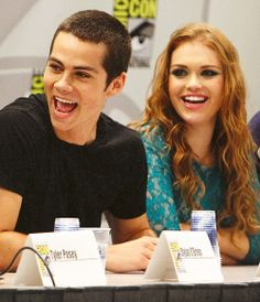 Dylan O'Brien and Holland Roden on Comic Con, Stiles Stilinski, Lydia Martin {Stydia}