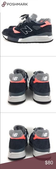 New Balance 998 Suede Navy Blue Pink Gray Shoes New Balance 998 Retro Shoes  Suede Navy