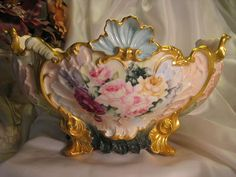 Limoges France Antique French Roses  ~ Circa 1900