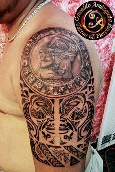 Calendario Maya Fusion Polinesio Fusion Polynesian Tattoo Mayan Calendar