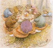 The Toads' Tea Party: ca. 1905  Copyright © Frederick Warne & Co., 1955