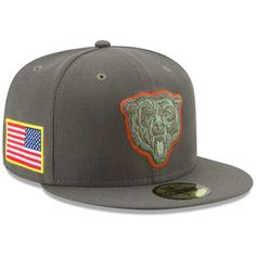Chicago Bears New Era Youth 2017 Salute To Service 59FIFTY Fitted Hat –  Olive ef4492fbb