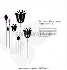 Floral Silhouette Vector