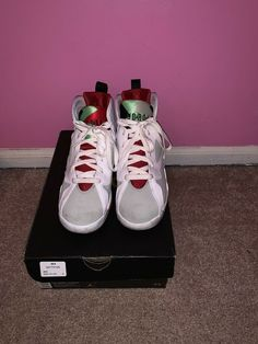 finest selection 7cf63 87781 Nike Air Jordan Retro VII 7 GS Hare White Red Silver Youth SZ 6Y (304774
