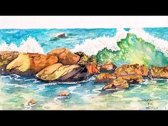 A3025DVD Frank Clarke Using Watercolors - Introduction to Seascapes - YouTube