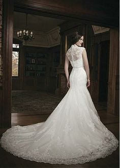 back of Fantastic Tulle & Satin Princess Sweetheart Neckline Raised Waist Wedding Dress - Dressilyme