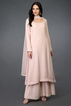 Nude Pink Handcrafted Mukaish Farshi Palazzo Suit