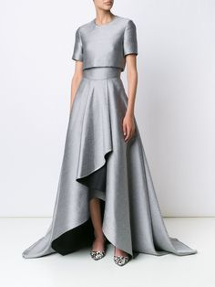 Jason Wu shortsleeved metallic draped gown