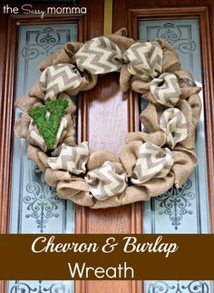 DIY :: Fall Burlap Wreath. I found all the supplies at Hobby Lobby for less than $12. I couldn't find the chevron burlap ribbon in the color I wanted, so I used a cream colored burlap ribbon and made a bow. I would recommend buying 20 feet of burlap if you can find it. 15 feet worked, but I would have preferred 20 feet. The project was really fun and it took less than 45 minutes to do!