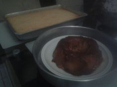 Bolo de macaxeira e bolo de abacaxi