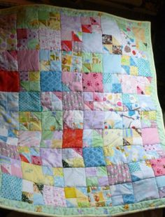 QUILT SCRAPPY FLANNEL Baby Blanket  All by DonnaleesTreasures, $45.00