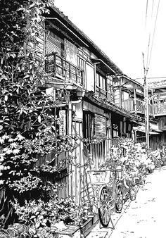 Uploaded by Disclosure. Find images and videos about manga, scenery and dayum it's large on We Heart It - the app to get lost in what you love. Cityscape Drawing, City Drawing, House Colouring Pages, Building Painting, Architecture Concept Drawings, Background Drawing, Cute Couple Art, Halloween Drawings, Landscape Drawings