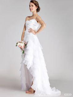 """\""\\\""wedding photos Layered Organza Little White Dress $198.98\\\""\"""""