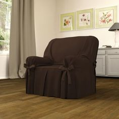 Chocolat Comfy Reading Chair, Home Hacks, Recliner, Shabby Chic, Linens, Slipcovers, Chocolate, Objects, Shabby Cottage