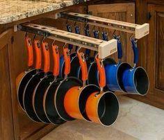 Neat idea for pot & pan storage